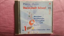 PIANO MUSIC AT THE DARMSTADT SCHOOL VOL. 1 (MESSIAEN STOCKHAUSEN...). CD