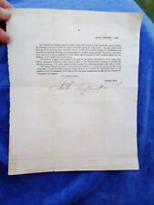 1823 BATH STEAM MILL CO, BATH, MAINE - Antique Sawmill Lumber Shareholder Notice
