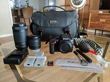 Nikon D5600 Bundle - AF-P NIKKOR 18-55mm 3.5-5.6G VR, 70-300mm 4.5-6.3G ED