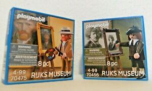 Playmobil Selbstporträt Rembrandt + van Gogh 70475 + 70456 Neu OVP Rijks Museum