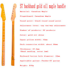 ST backhand gold oil maple handle-Unfinished electric guitar neck-ST left hand h