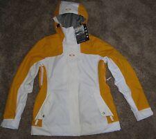 Oakley Brookside Bright Orange White Women's Small S Winter Ski Snowbaord Jacket