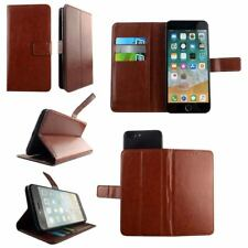 Brown Genuine Leather Wallet Case Cover - For THL KNIGHT 2 - XL
