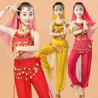 Children Belly Dancing Suit Indian Girls Carnival Performance Kid Arab Egyptian