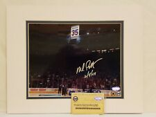 Mike Richter Signed New York Rangers 11x14 Matted 8x10 Photo Insc Steiner COA