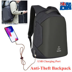 Anti Theft Backpack Waterproof School Travel Laptop Shoulder Bags USB Charging