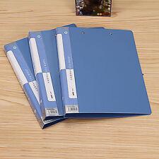 1 PCS Blue Paper Expanding File Folder Lever File Office Supply Metal Clip A4