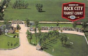 Rock City Tourist Cur  Hopkinsville Kentucky linen