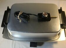 Lektro Miracle Maid Electric Skillet Buffet Roaster Complete. Tested.