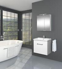 Badmöbel Set Badmöbel Unterschrank Waschbecken Spiegelschrank 4 Dekor Farben