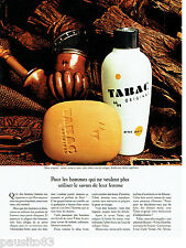 PUBLICITE ADVERTISING  016  1967  TABAC ORIGINAL  after-shave savon