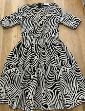 Moresi Black/white Dress Uk10