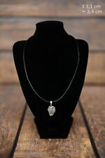 Neapolitan Mastiff - silver covered necklace with dog on strap, Art Dog Usa