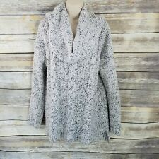 Kensie Size L Gray Marled Cowl Neck Cable Knit Sweater Staple Womens