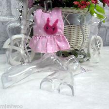 1/6 Size Bjd Doll Miniature Fashion Clear Hard Plastic Torso with Hanger (5pcs)
