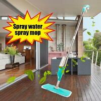 Spray Mop Microfibre Pad Flat Floor Kitchen Bath Bathroom Cleaner Broom Sweeper