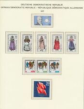 Xc92813 Germany 1977 Ddr cycling & folklore clothing fine lot Mnh
