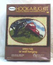 "New listing Vintage Malina Hook A Rug Kit - Farm Oval Scene 18"" X 24"" - Mib, Nos - Unopened"