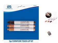 3 x Furniture Touch Up Pen Long Lasting  Furniture Scratch Repair 3 Colours New