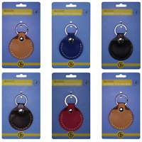 Guitar Plectrum Pick Holder Cow Leather Case Keyring Key Ring Chain
