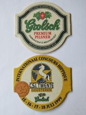 Beer Coaster: Grolsch Bierbrouwerij Ned Brewing- Netherlands ~ 1999 Hippique