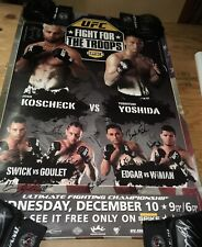 UFC Fight for the Troops SBC Event Poster Signed Auto COA /125 - Pride Fc MMA