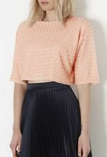 Topshop Short Sleeve Cropped Jumpers & Cardigans for Women