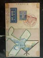 1919 Tokyo to Osaka japan Airmail First Flight Postcard Cover FFC