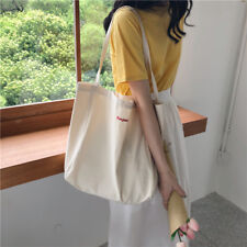 Casual heavy duty Reusable 100%Cotton Shopping Canvas Shoulder Tote Bag Handbags