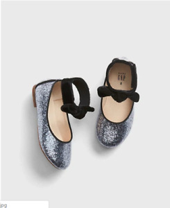 BABY GAP Glitter Ankle-Strap Flats 7 NWT N1050 NNN