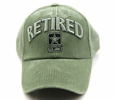 U.S. Army Retired USA Military Xtreme Embroidery Baseball Cap Hat