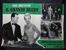 FOTOBUSTA CINEMA - IL GRANDE BLUFF - EDDIE CONSTANTINE - 1957 - AVVENTURA - 05
