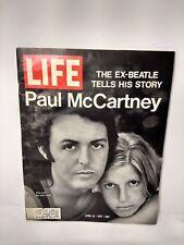Vintage Life Magazine APRIL16,1971 PAUL MCCARTNEY LINDA MCCARTNEY BEATLES COVER