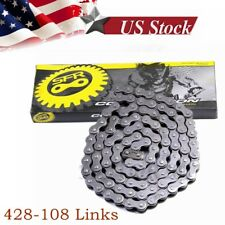 428 Chain 108 Links for 50cc -250cc  ATV Quad Pit Dirt Bike Go Kart Honda Yamaha
