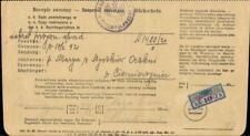 Austria Galicia document court delivery fee overprint 2 mk. revenue 1921 Poland
