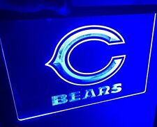 NFL CHICAGO BEARS LED Light Neon Sign for Game Room,Office,Bar,Man Cave. NEW!