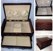 MELE WOODEN JEWELLERY BOX  WITH DRAWER AND LID