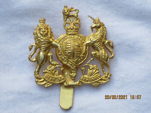 General Service Capbadge, Barettabzeichen, England, Messing