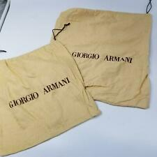 Georgio Armani Womens Dust Bag Drawstring Beige Tan for Handbag Lot 2