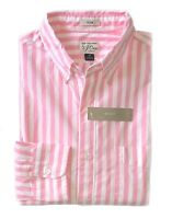 J.Crew - Mens M - Slim Fit - NWT - Pink/White Striped Secret Wash Cotton Shirt