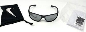 NIKE RABID EV0603 007 Sunglasses Matte Black Frame Grey W/Silver Flash Lens