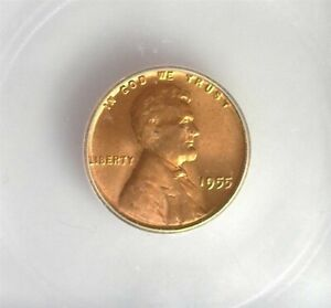 1955 LINCOLN CENT ICG MS 66+ RED LISTS FOR $175!!