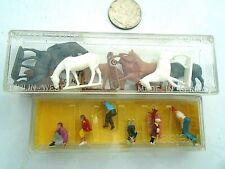 Merten HO figure lot- Horses,Cows Pedestrians...