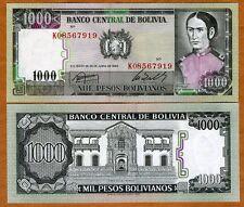 Bolivia, 1000 Pesos Bolivanos, 1982, P-167a, UNC