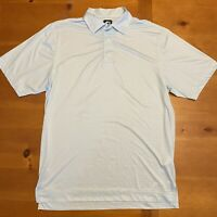 Footjoy FJ Golf Polo Shirt Men's Medium Light Blue Geometric Print Lightweight