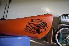 Native American Indian Head Kayak Decals