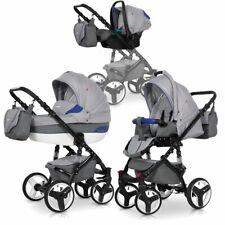 Ausverkauf - 3in1 Kombi Kinderwagen Wanne Buggy Schale 0-13 kg Räder Pannenfrei