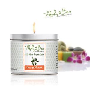 Alphy&Becs Candles Orange Flower Eco Soy 200gr HandMade In UK