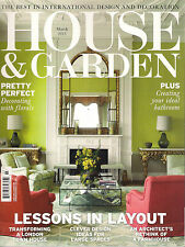 HOUSE & GARDEN March 2015 International Design Decoration Floral Bathroom Layout