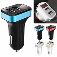 5V 3.1A Dual 2 Port USB Car Charger Adapter Digital LED Display for Mobile Phone